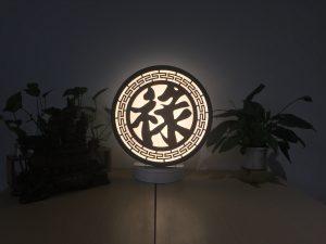 Đèn tam quang chữ Lộc_Hán
