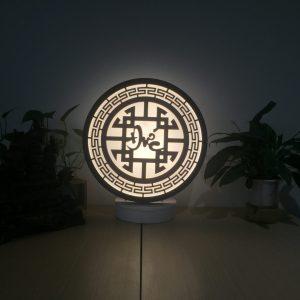 Đèn gỗ phòng thờ chữ Đức
